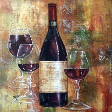 Napa Valley Pinot - Napa Valley Pinot Stretched Canvas - Jamie Carter (14 x 14)