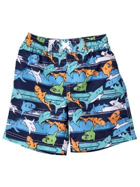1b6875b63d Product Image WIPPETTE KIDS Shark All Over Print Board Short Swim Trunk  (Baby Boys & Toddler Boys