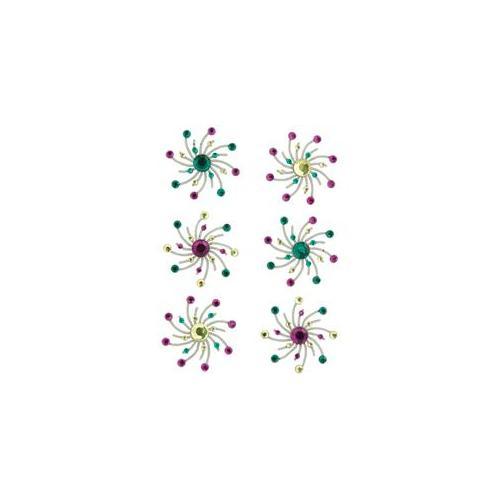 Karen Foster 472549 Swirl Burst Brads 6-Pkg-Sprinkles