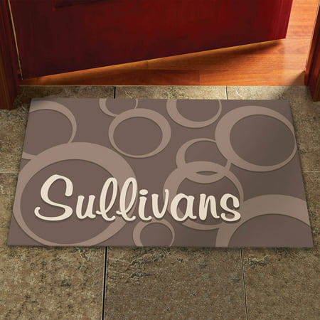Personalized Large Circles Doormat  Available In Different Sizes