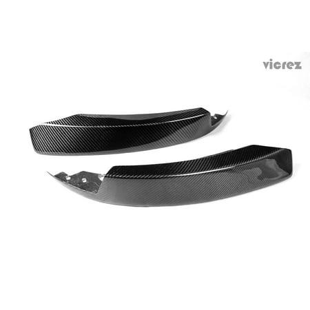 - Vicrez BMW 3 Series E90 M sport LCI 2009-2011 Carbon Fiber Front Bumper Lip Splitters - vz100419
