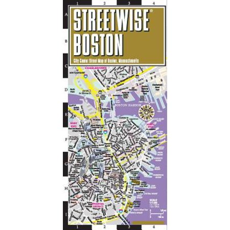Streetwise Boston Map - Laminated City Center Street Map of Boston, Massachusetts
