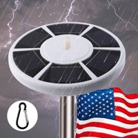 Waterproof Automatic Solar Powered Flag Pole Light 42 LED Outdoor Night Lamp