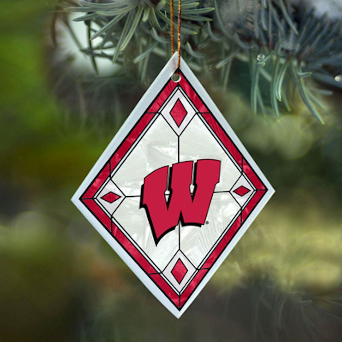 NCAA Wisconsin Badgers Art Glass Ornament
