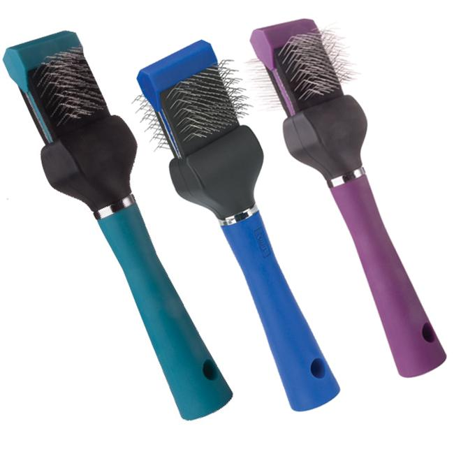 Pet Pals TP224 12 11 MGT Slicker Brush Double Flex Soft Purple