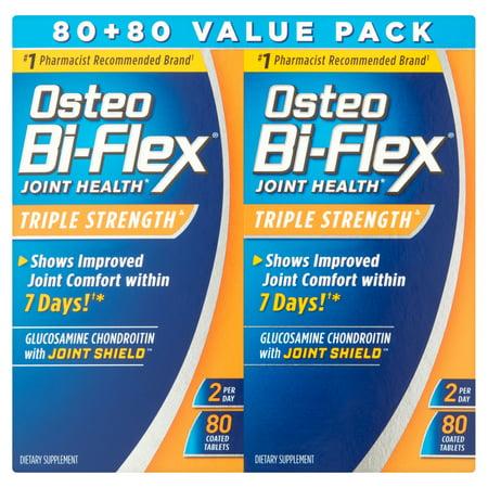 Osteo Bi-Flex Glucosamine chondroïtine MSM Avec 5 Loxin supplément avancé comprimés, 80 Count, 2 pièces