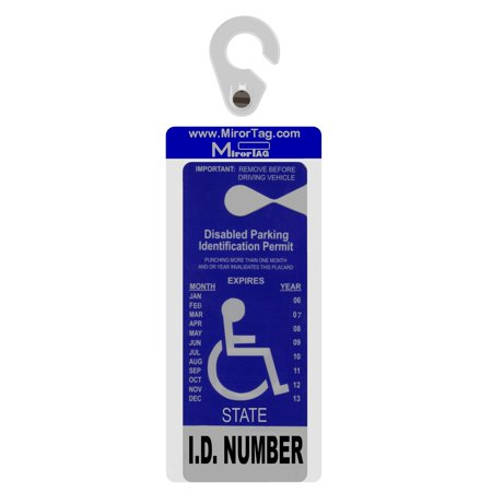 Mirortag Silver by JL Safety - Handicap Placard Holder. Easily Display & Put Away your handicap tag. Fits Permit size up to 10