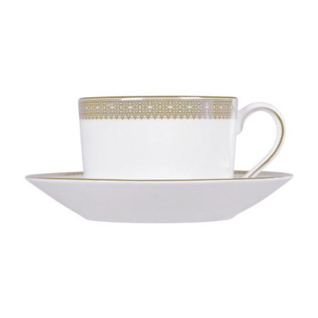 Fluted Half Lace Teacup (Wedgwood Vera Wang Vera Lace Gold)