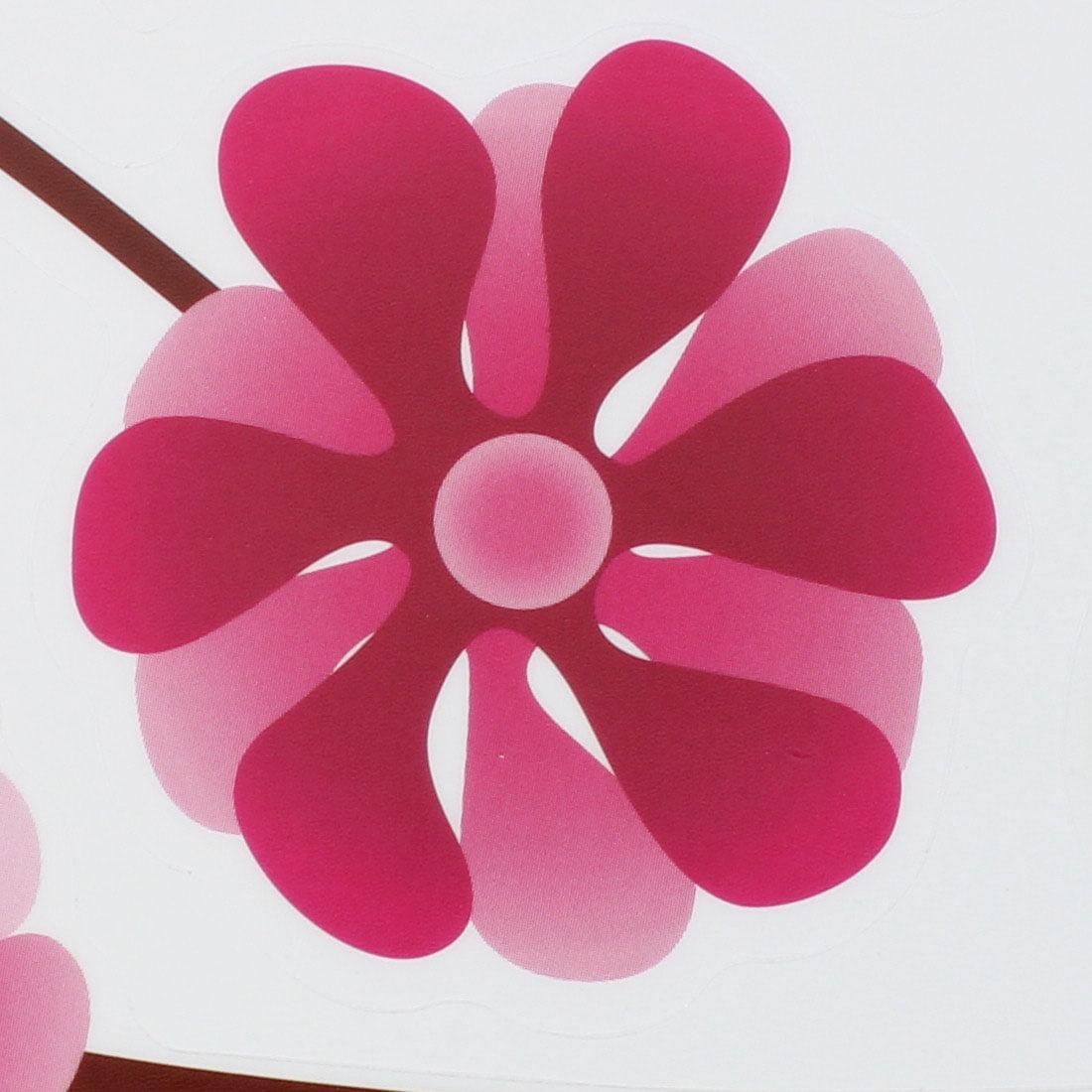 Pink Purple Dandelion Flower Wall Sticker Mural Room Decor - image 3 of 4