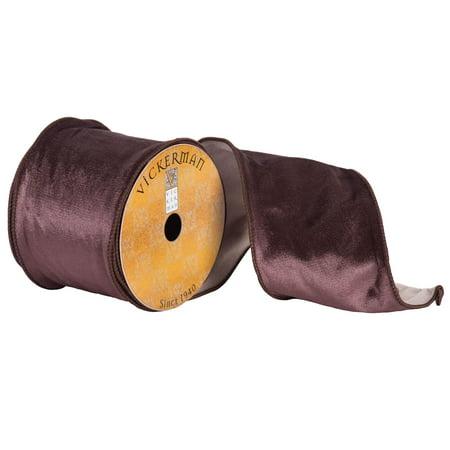 "4"" x 10yd Chocolate Plush Velvet"