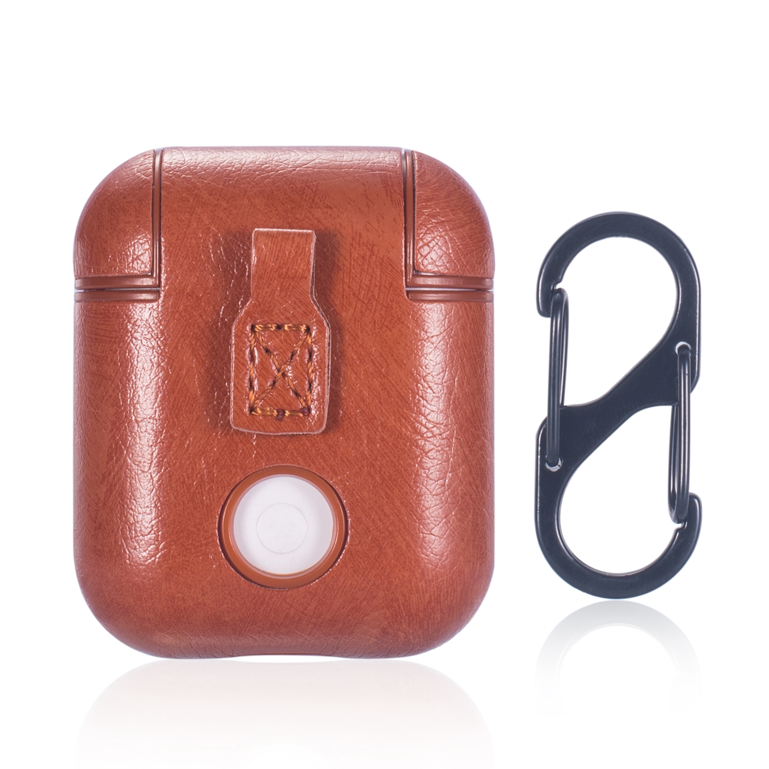 Allytech Airpods 1 2 Case With Keychain Pu Leather Portable