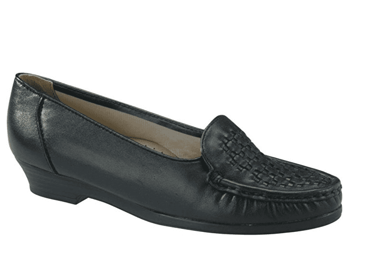 Softspots CONSTANCE Womens Black Comfort Slip On Loafer Shoes