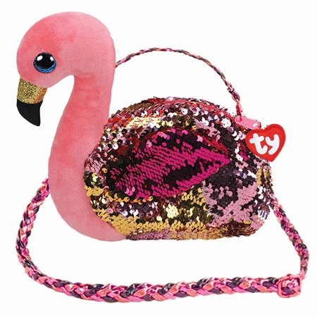 TY Fashion Flippy Sequin Handbag Purse - GILDA the Flamingo (8 -