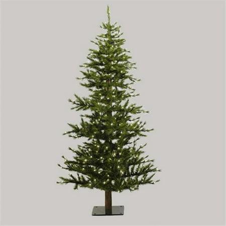 best loved c7198 02028 NorthLight 7 ft. Pre-Lit Minnesota Alpine Style Half Wall Christmas Tree,  Clear Lights