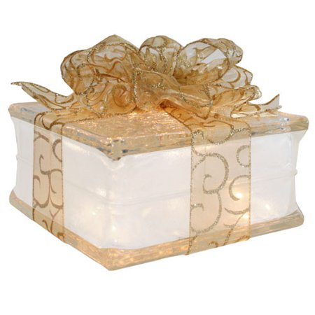 Lighted Glass Block with 4