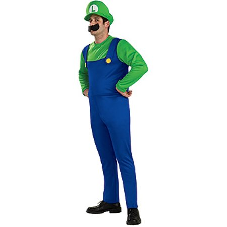 Super Grover Costume Adults (Super Mario Bros Luigi Costume)
