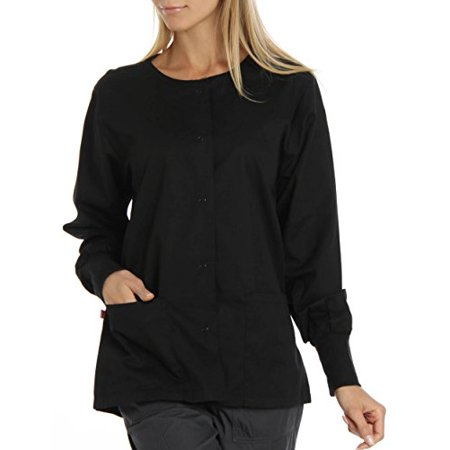 - Hey Women's Womens Baby Twill Warm Up Scrub Jacket XX-Large Black
