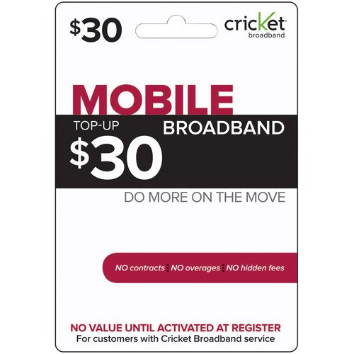 (Email Delivery) $30 Cricket Broadband