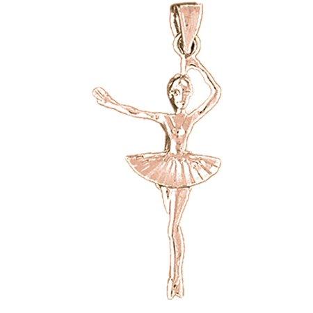 14k rose gold ballerina pendant 15 mm walmart 14k rose gold ballerina pendant 15 mm aloadofball Choice Image