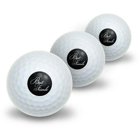 Best Friends on Black Novelty Golf Balls, 3pk