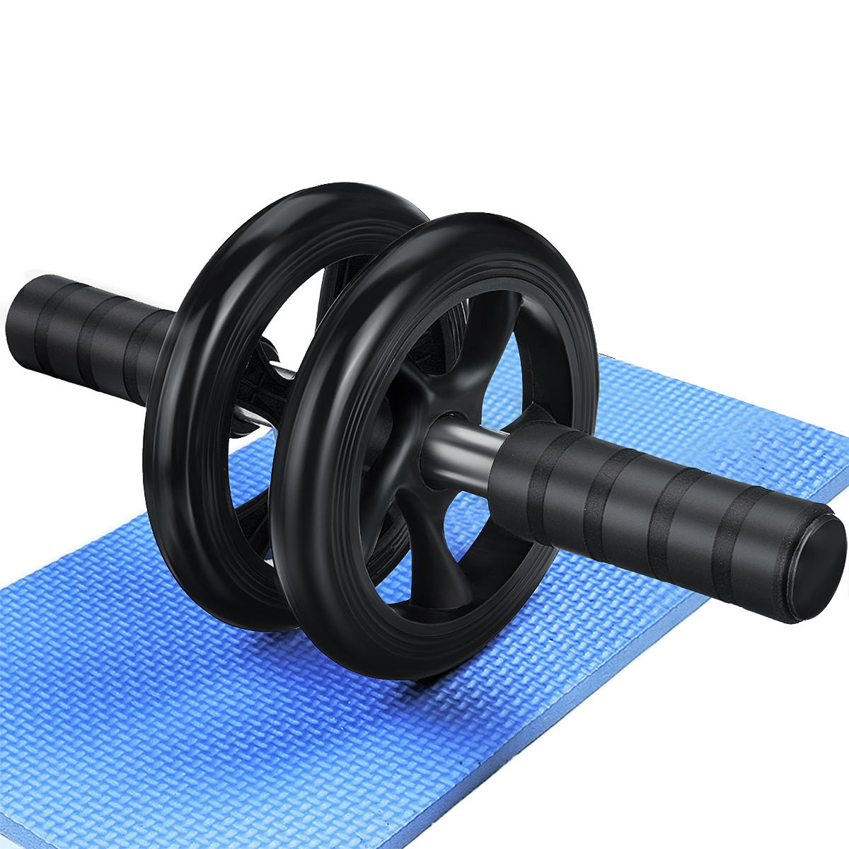 ABS Mute Strength Training Core Fitness Ab Roller Abdominal Wheel Gym Exercise