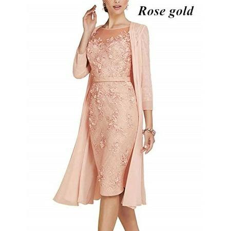 Lady Elegant 2pcs Set Slim Fit Lace Dress