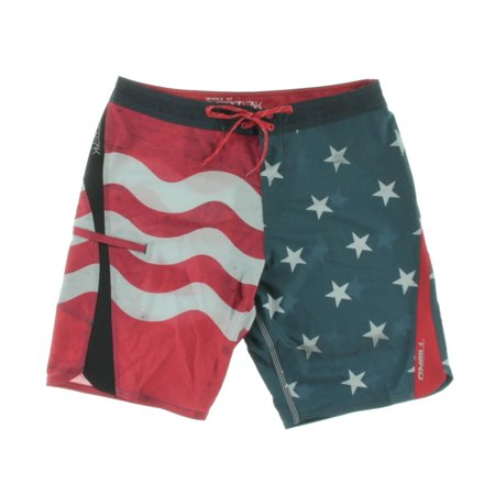 Show your American pride with these Men's Flag Swim Trunks. They feature an American flag pattern. These elastic waist swim trunks have a drawstring closure in the front and two side pockets for your convenience/5(12).