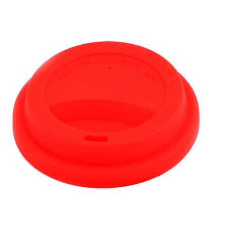 Clover Coffee - Home Red Silicone Round Shaped Resuable Sealed Mug Lid Tea Coffee Cup Cover