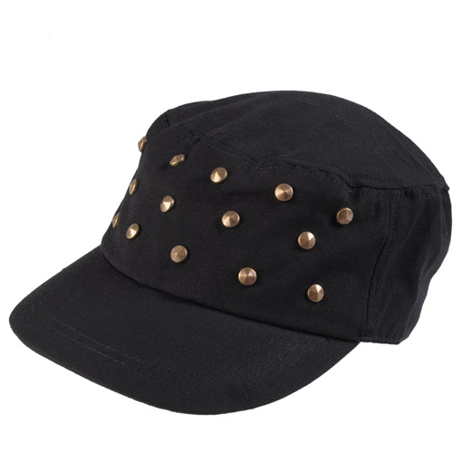 Brinley Co Womens Studded Adjustable Military Cap