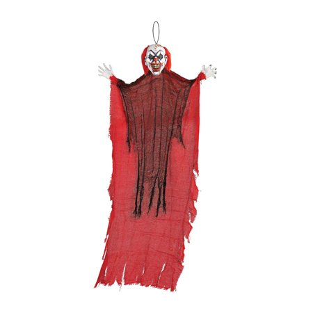 Scary Clown Props (48 Inch Hanging Clown Prop-Halloween Scary)