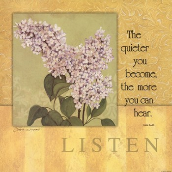 Listen - Lilac Poster Print by Stephanie Marrott (12 x 12)