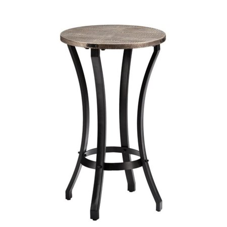 Southern Enterprises Libson Round Accent Table in Blackwashed Gold - image 2 of 6