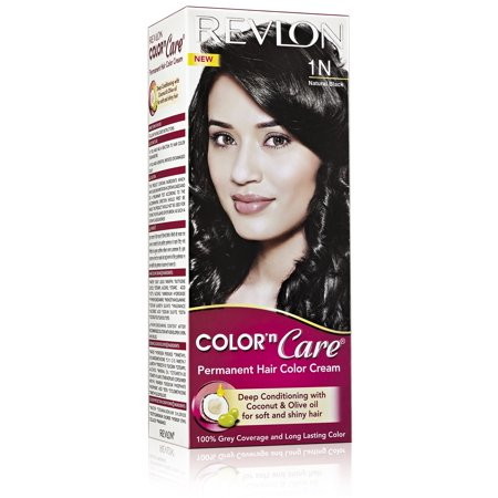 Revlon Color N Care Permanent Hair Color Cream For Women, Natural Black