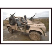 Printfinders 'A Pink Panther Land Rover Desert Patrol Vehicle' by Stocktrek Images Framed Photographic Print