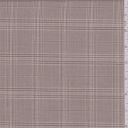Tan/Brown Plaid Polyester Suiting, Fabric By the Yard