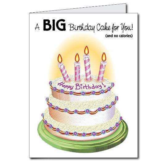 2 X3 Giant Birthday Cake Birthday Card W Envelope Walmart Com