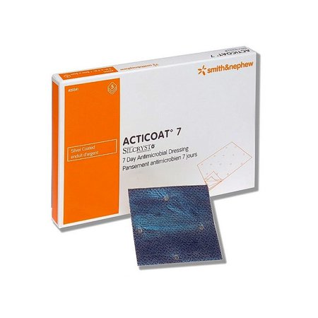 Acticoat seven day antimicrobial barrier dressing 4