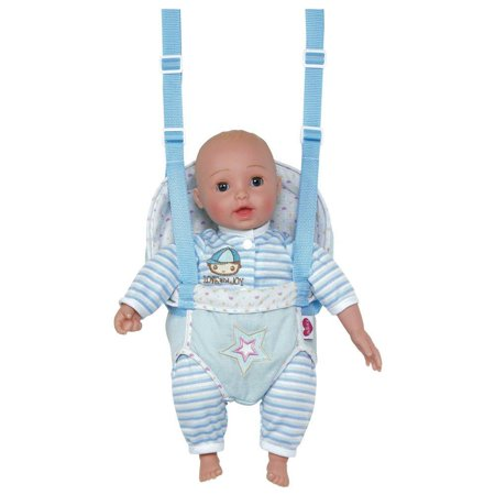 Adora Giggletime 15 Boy Vinyl Weighted Soft Body Toy Play Baby Doll With Laughing Giggles And Harnessed Wrap Carrier Holder For Children 2