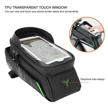 Ejoyous Bike Phone Holder, Waterproof Bike Bag,Bike Motorbike Handlebar Mount Holder Waterproof Bag Case for Phone GPS - image 4 of 8