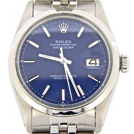 Pre-Owned Mens Rolex Stainless Steel Datejust Blue 1603 (SKU 1924206MT)