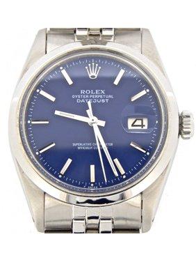 085fec2ddff Product Image Pre-Owned Mens Rolex Stainless Steel Datejust Blue 1603 (SKU  1924206MT)