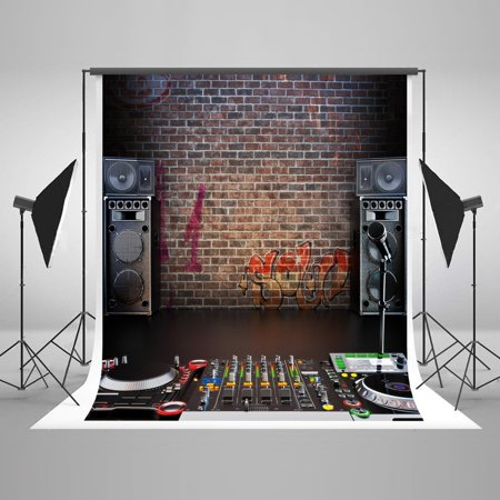 HelloDecor Polyster 5x7ft Rock Hip-Hop Photography Backdrops Party Photo Background Photography