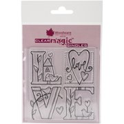 """Woodware Clear Stamps 3.5""""X3.5""""-Love"""