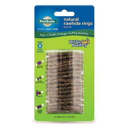 Busy Buddy Gnawhide Rings - Medium Gnawhide Rings, 16 pack