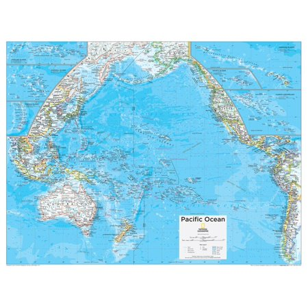 2014 Pacific Ocean Political - National Geographic Atlas of the World, 10th Edition Poster Wall Art By National Geographic Maps