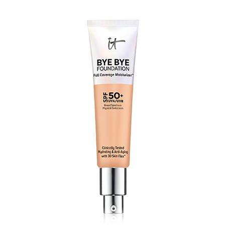 IT COSMETICS Bye Bye Foundation SPF 50+ Full Coverage Moisturizer (Neutral Medium) 1.08 oz