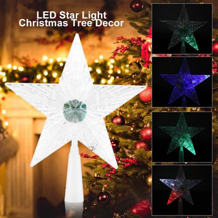 WALFRONT Star LED Light with Colorful Changing Lighting for Christmas Tree Ornament Decoration, Christmas Tree Ornament, Star Ornament (Star For Christmas Tree)
