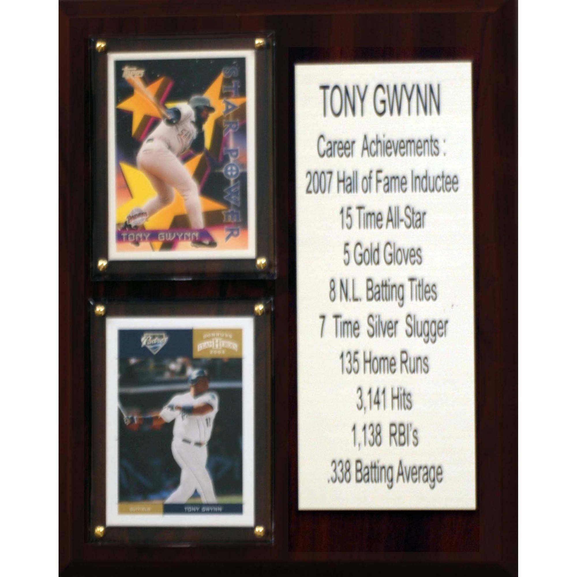 C&I Collectables MLB 8x10 Tony Gwynn San Diego Padres Career Stat Plaque