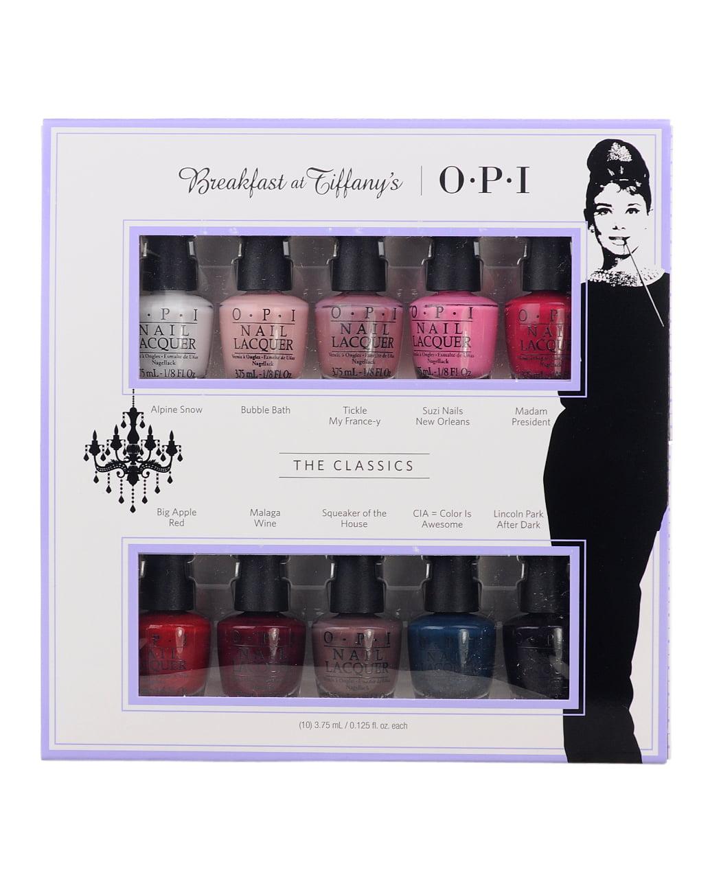 OPI mini set - Breakfast at Tiffany\'s Collection 2016, The Classics ...