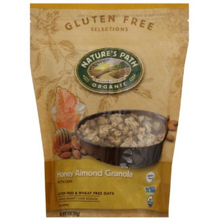 Nature's Path Organic Gluten Free Selections Honey Almond Granola, 11 oz, (Pack of 8) Natures Path Organic Granola